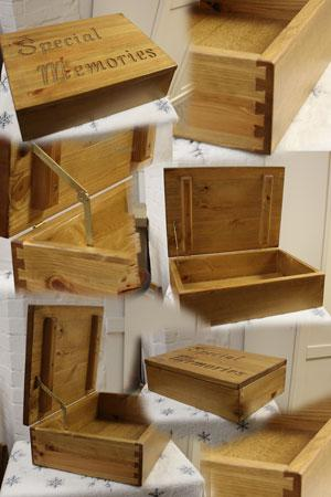 Solid Pine Memory Boxes : Keepsake Boxes