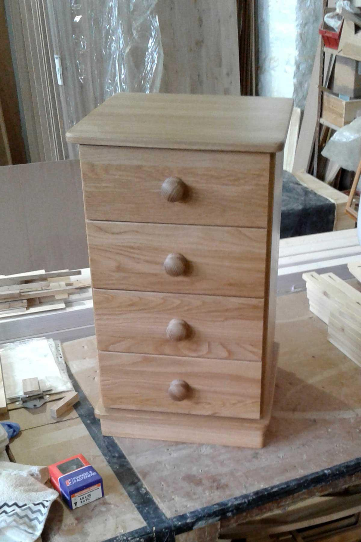 Exmoor Oak 4 Drawer Bedside Chest