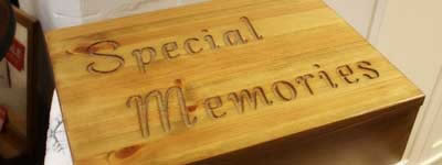 Pine memory boxes for sale